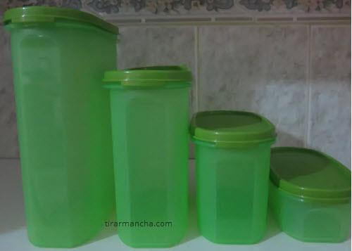 Tirar mancha de molho de pimenta de potes plásticos