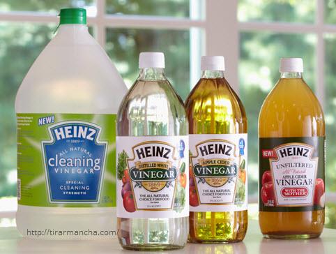 O que você nunca deve limpar com vinagre branco