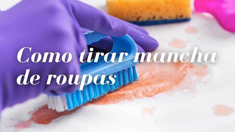 Como tirar manchas de roupas, limpar