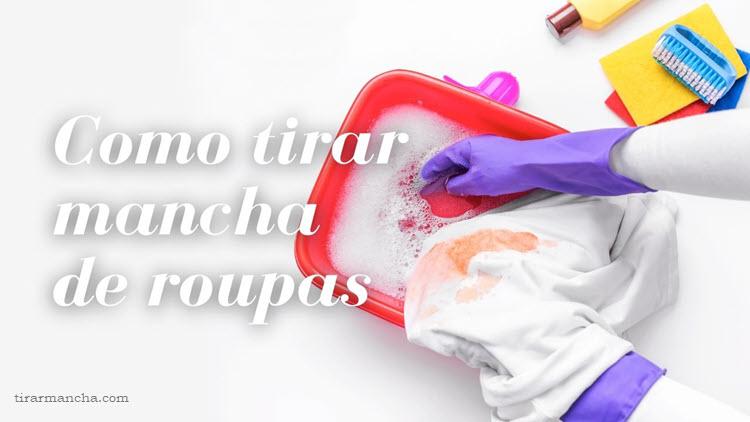 Como tirar mancha colorida das roupas