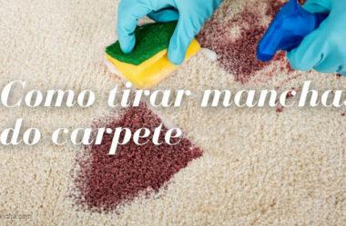 Como tirar mancha de xarope do carpete